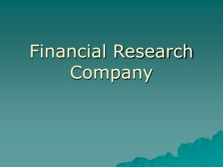 Financial Research Company