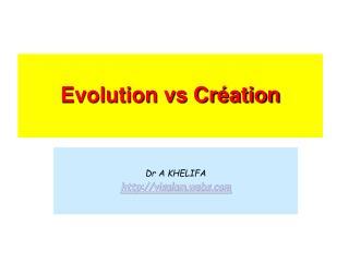 Evolution vs Création