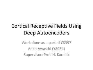 Cortical Receptive Fields Using Deep Autoencoders