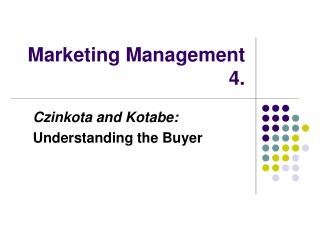 Marketing Management 4.