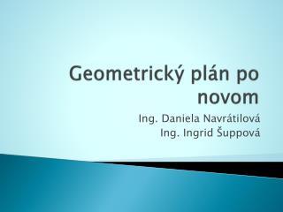 Geometrický plán po novom