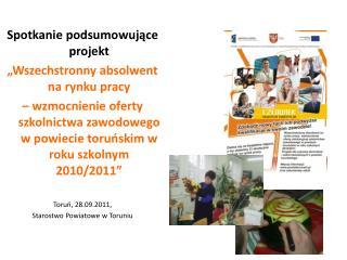 """Spotkanie podsumowujące projekt """"Wszechstronny absolwent na rynku pracy"""