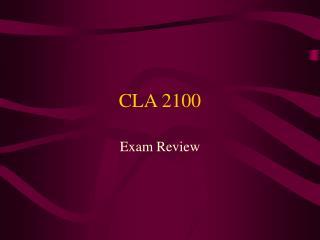 CLA 2100