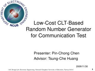 Low-Cost CLT-Based Random Number Generator for Communication Test