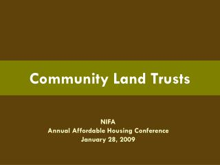 Community Land Trusts