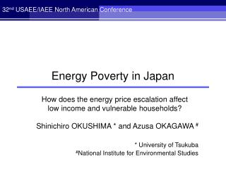 Energy Poverty in Japan