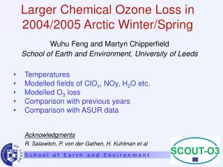 Larger Chemical Ozone Loss in 2004/2005 Arctic Winter/Spring