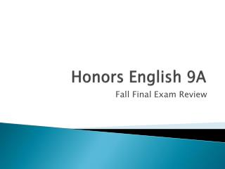Honors English 9A