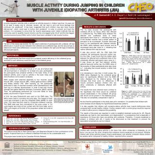 MUSCLE ACTIVITY DURING JUMPING IN CHILDREN WITH JUVENILE IDIOPATHIC ARTHRITIS (JIA)