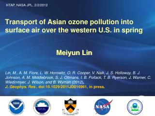 Transport of Asian ozone pollution into surface air over the western U.S. in spring