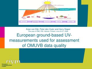 European ground-based UV-measurements used for assessment of OMUVB data quality