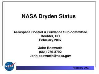 NASA Dryden Status
