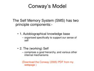 Conway's Model