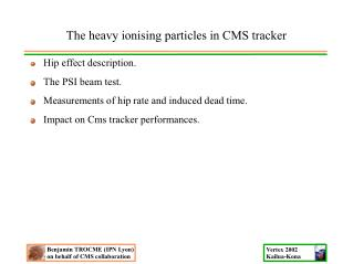 The heavy ionising particles in CMS tracker