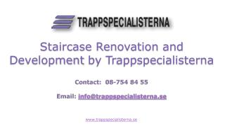 Staircase Renovation and Development by Trappspecialisterna