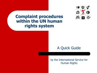Complaint procedures within the UN human rights system