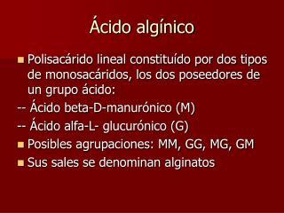 Ácido algínico