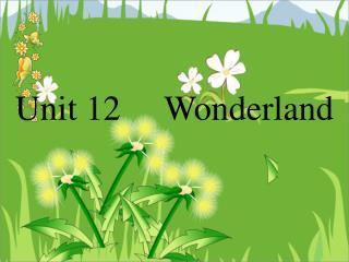 Unit 12     Wonderland