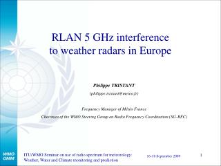 RLAN 5 GHz interference to weather radars in Europe