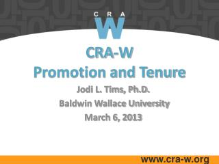 CRA-W  Promotion and Tenure
