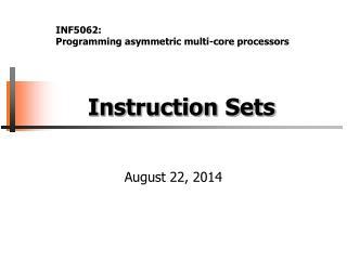 Instruction Sets