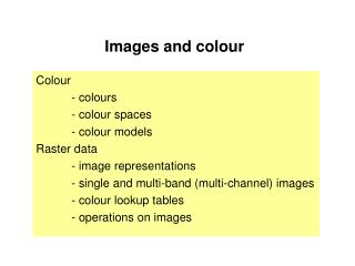 Images and colour