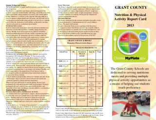 Nutrition & Physical Activity Report Card 2013