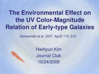 The Environmental Effect on the UV Color-Magnitude Relation of Early-type Galaxies