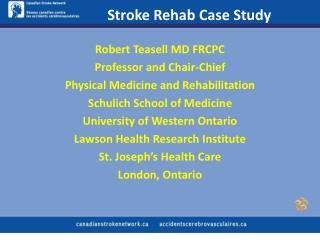 Stroke Rehab Case Study