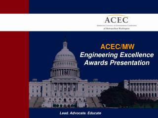 ACEC/MW  Engineering Excellence  Awards Presentation