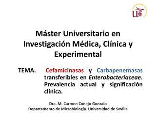 Máster Universitario en Investigación Médica, Clínica y Experimental