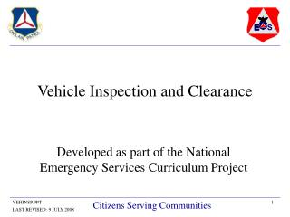 Vehicle Inspection and Clearance