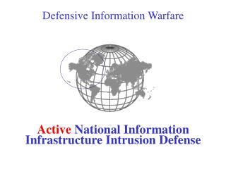 Defensive Information Warfare  Active  National Information Infrastructure Intrusion Defense