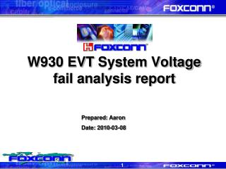 W930 EVT  System Voltage fail analysis report