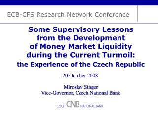 ECB-CFS Research Network Conference