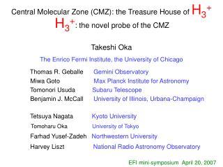 Central Molecular Zone (CMZ): the Treasure House of  H 3 +