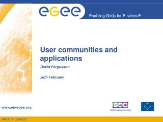 User communities and applications