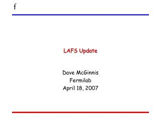 LAFS Update