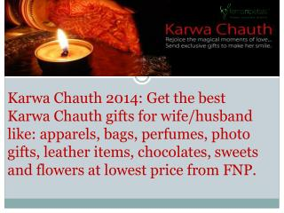 Karwa Chauth 2014 for Karwa Chauth Gifts for Wife & Husband