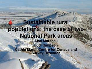 Sustainable rural populations: the case of two National Park areas
