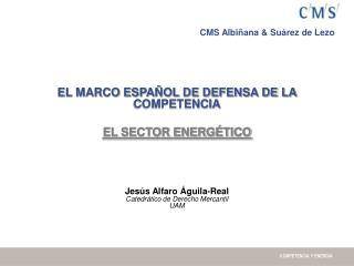 EL MARCO ESPAÑOL DE DEFENSA DE LA COMPETENCIA EL SECTOR ENERGÉTICO