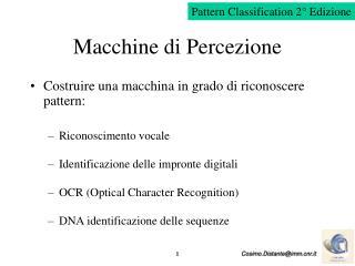 Macchine di Percezione