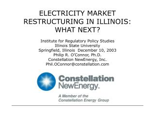 ELECTRICITY MARKET RESTRUCTURING IN ILLINOIS: WHAT NEXT?
