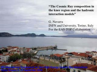 """The Cosmic Ray composition in the knee region and the hadronic interaction models"" G. Navarra"