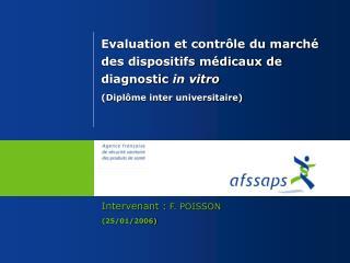 Intervenant : F. POISSON (25/01/2006)
