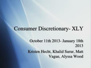 Consumer Discretionary- XLY