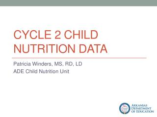 Cycle 2 Child Nutrition Data