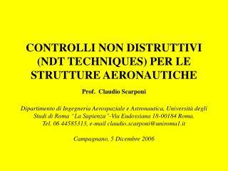 Filosofia NDT  ( Non Destructive Testing)