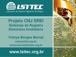 Projeto CNJ SREI Sistemas de Registro Eletrônico Imobiliário