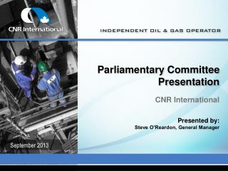 Parliamentary Committee Presentation